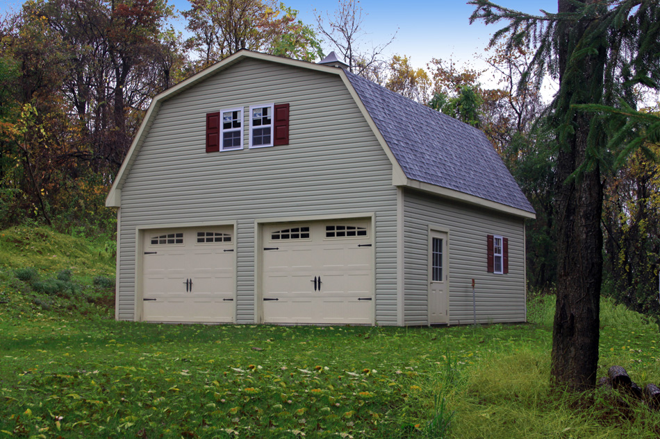 two-story garage