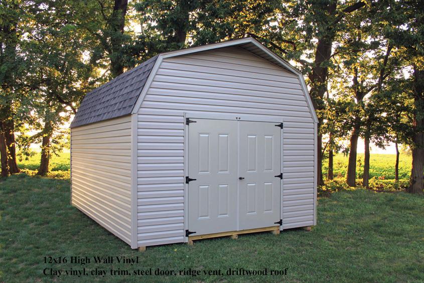 12x16 High Wall Barn