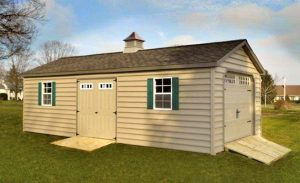 Garage with Carolina Beaded Siding