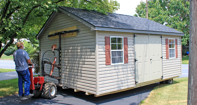 Mule Delivering Custom Shed