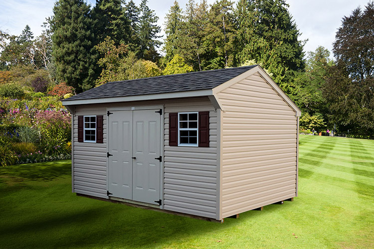sheds new cape pa backyard in custom built classic amish storage shed