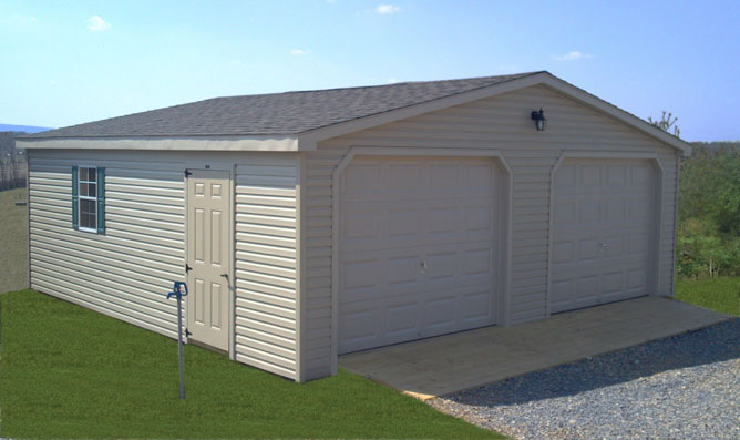 Double Wide Two Car Garage