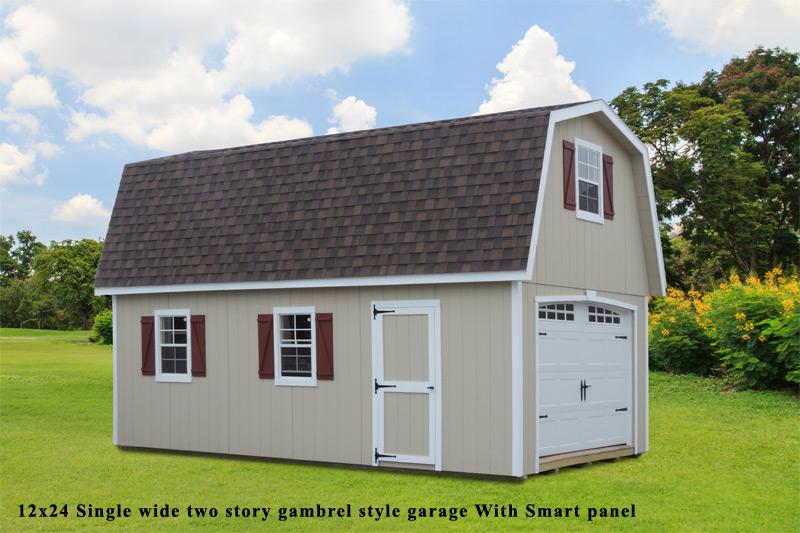 Two Story Single Wide Garage