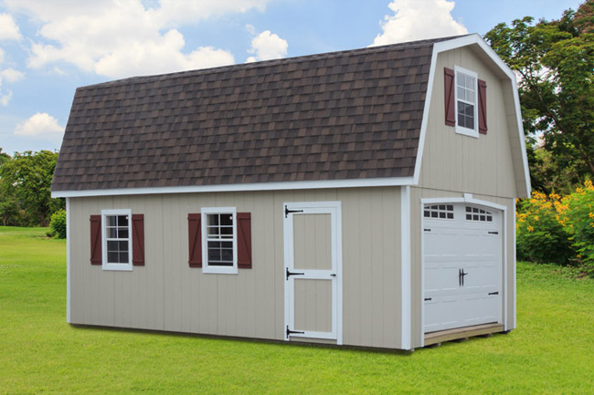 Two Story Single Wide Garages
