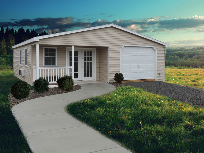 double wide vinyl Garage with optional porch