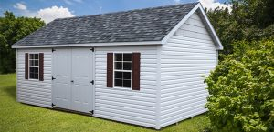 A new shed purchased instead of a storage unit rental