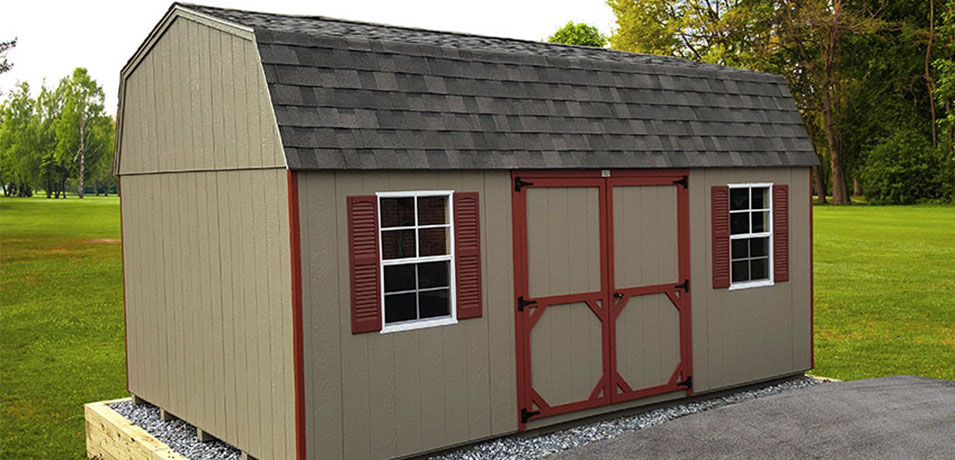 12x20 Dutch Barn With Smart Panel Painted Siding