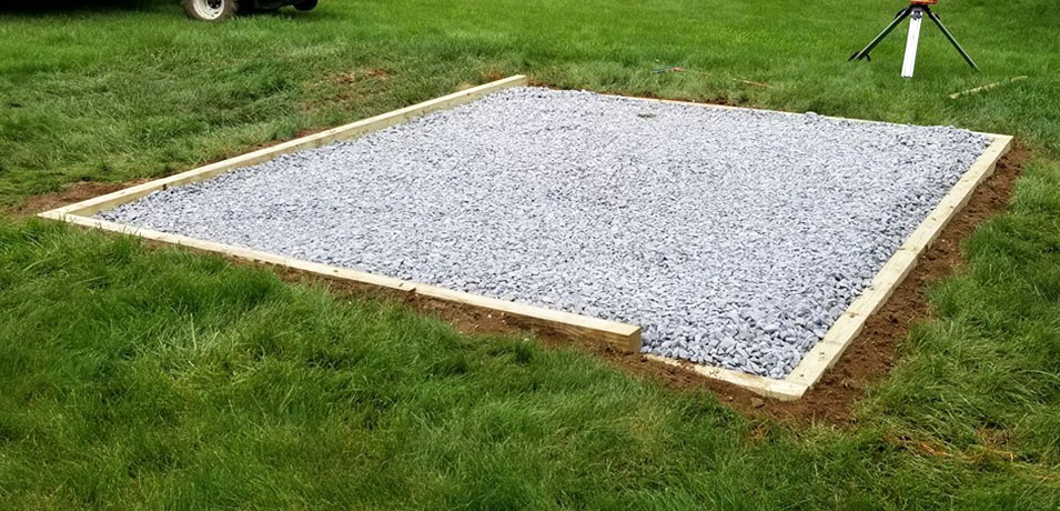 gravel pad for shed
