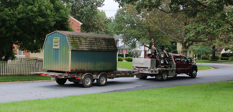 glick woodworks shed removal