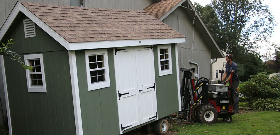new shed installation
