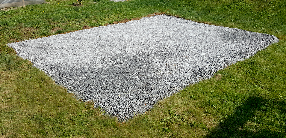 storage shed pad