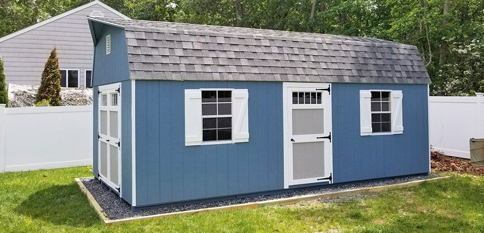 high wall barn shed style