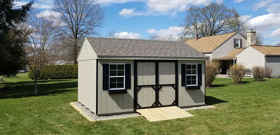 deluxe amish-built shed