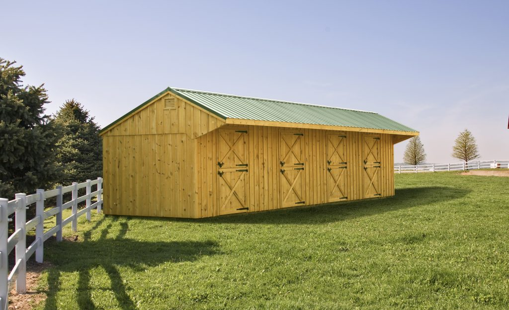 Amish Horse Barn Builders Lean To Center Aisle Barns Pa Va Nj Md