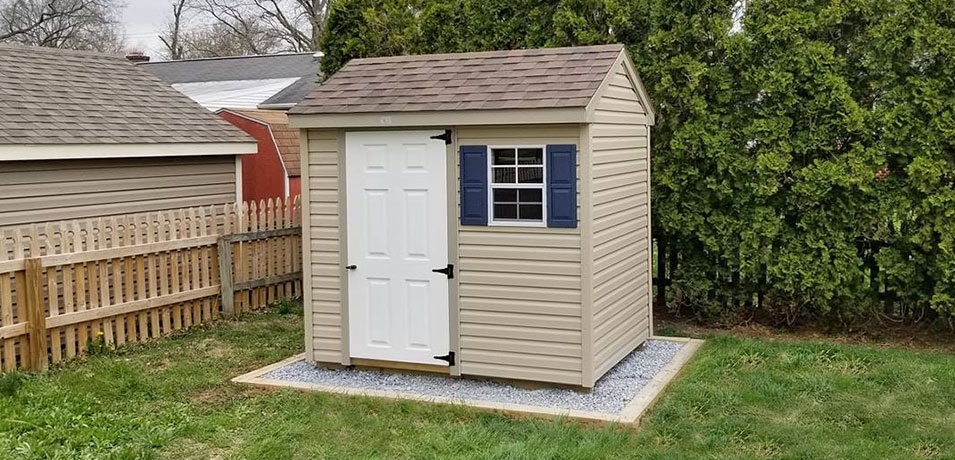 6x8 a-frame amish shed prices