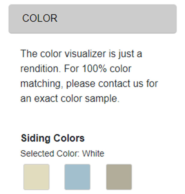 shed design software color tab