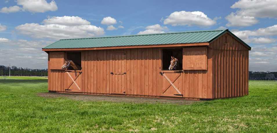shed row style horse barn