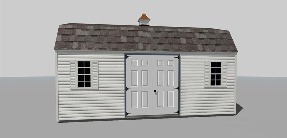 monochromatic custom shed design