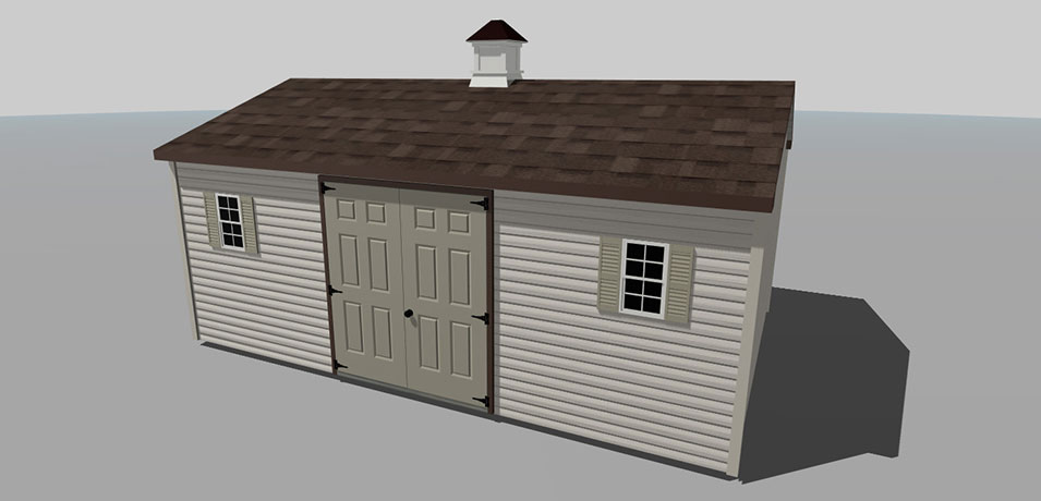 naturally neutral custom shed design
