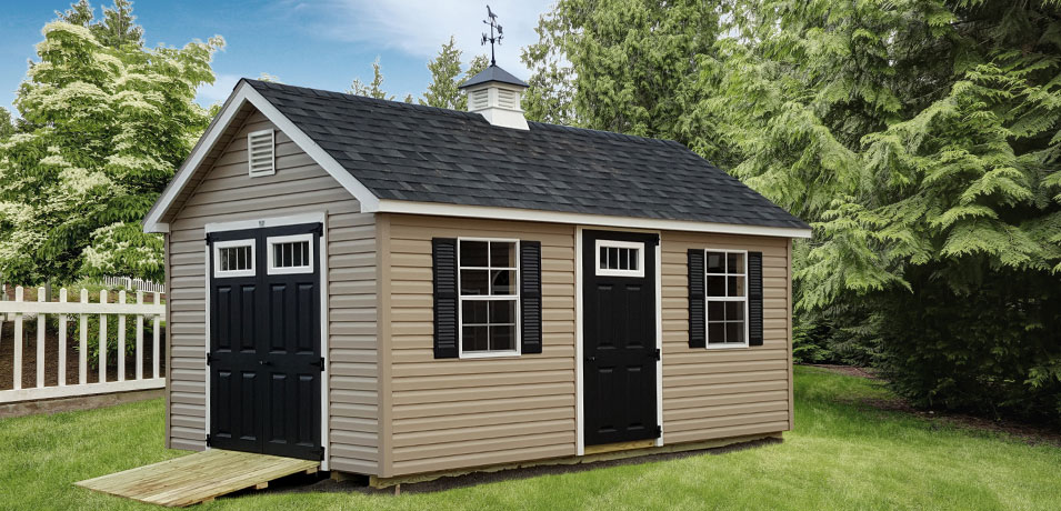 a frame shed adding value to a home