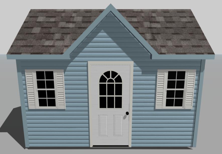 custom designing a blue shed