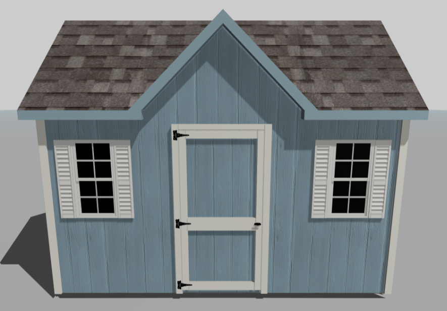 custom designing a wooden shed