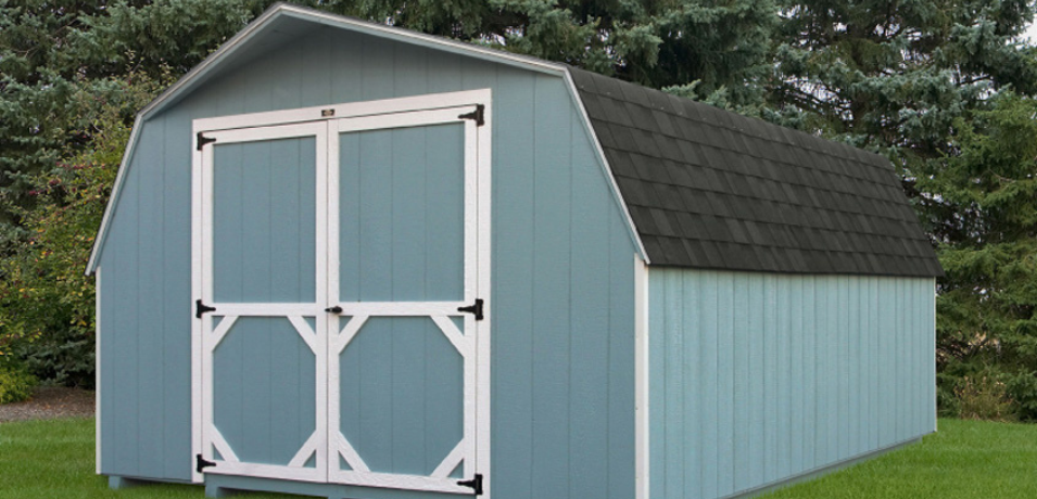 blue shed siding color