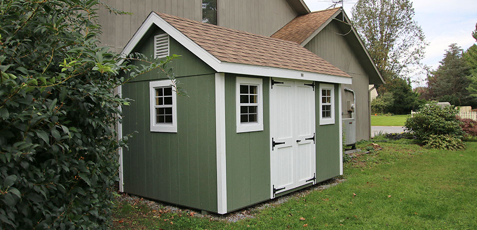 storage shed with painted smartside