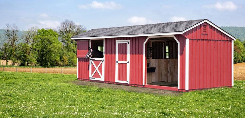 pre-built barns