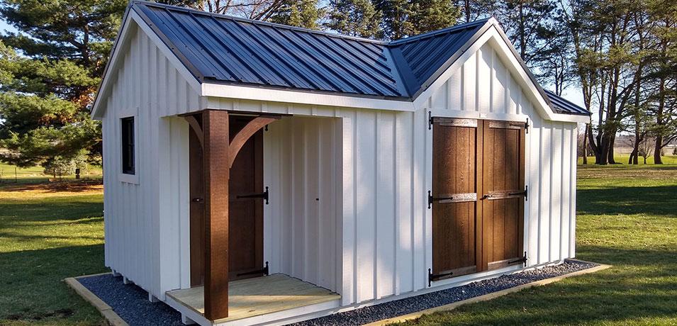 brand new custom shed