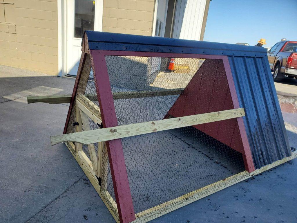 handmade amish built chicken coop