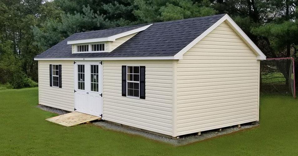 large a-frame storage shed